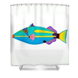 Halfmoon Triggerfish  Shower Curtain by Opas Chotiphantawanon