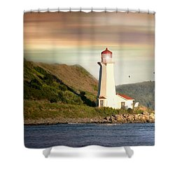 Halifax Harbor Lighthouse Shower Curtain by Diana Angstadt