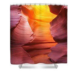 Shower Curtain featuring the photograph Hall Of Fire by Kadek Susanto