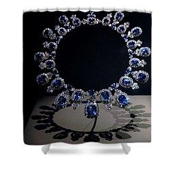 Hall Sapphire And Diamond Necklace Shower Curtain by LeeAnn McLaneGoetz McLaneGoetzStudioLLCcom