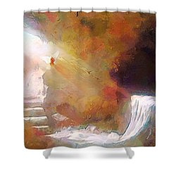 Hallelujah, He Is Risen Shower Curtain by Wayne Pascall