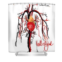 Hallelujah  Shower Curtain by Sladjana Lazarevic