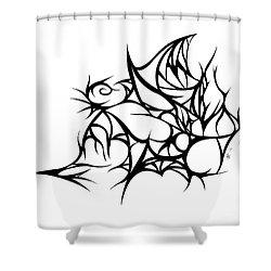 Hallow Web Shower Curtain