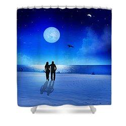 Night Blessings Shower Curtain by Bernd Hau