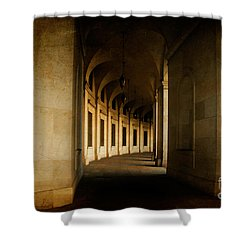 Hallowed Hall Shower Curtain by Lois Bryan