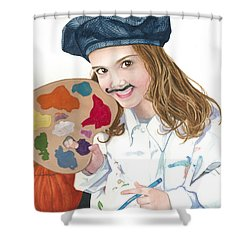 Halloween Artist Shower Curtain