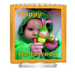 Halloween Card Shower Curtain