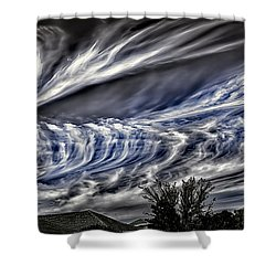 Halloween Clouds Shower Curtain
