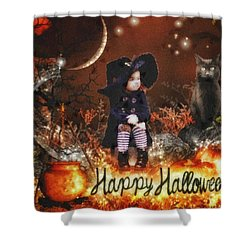 Halloween Girl Shower Curtain