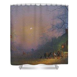 A Shire Halloween  Shower Curtain