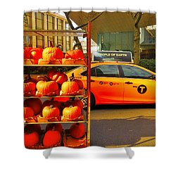 Halloween In New York  Shower Curtain by Funkpix Photo Hunter