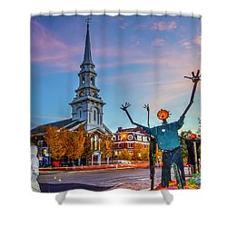 Halloween In Portsmouth 746 Shower Curtain