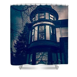Halloween In The Park Shower Curtain