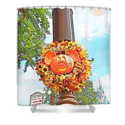 Halloween In Walt Disney World Shower Curtain