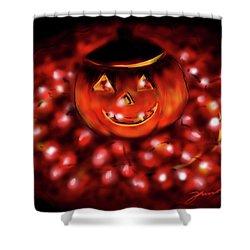 Halloween Lights Shower Curtain