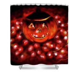 Halloween Lights Shower Curtain by Jean Pacheco Ravinski
