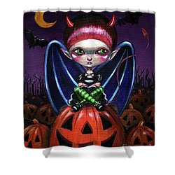 Halloween Little Devil Shower Curtain
