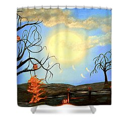 Halloween Night Two Shower Curtain