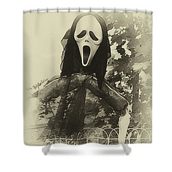 Halloween No 1 - The Scream  Shower Curtain