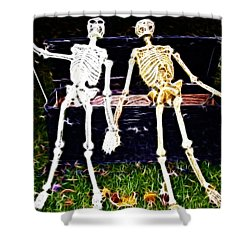 Halloween Skeleton Couple Shower Curtain