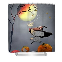 Halloween Wishes By Sannel Larson Shower Curtain