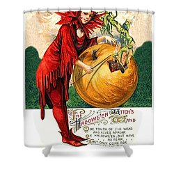 Halloween Witch Wand Shower Curtain