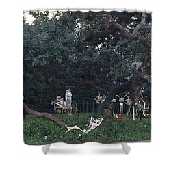 Halloween Yard Party Shower Curtain