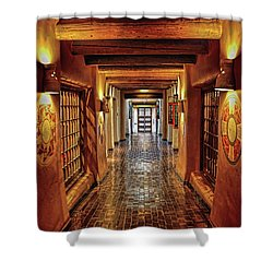 Shower Curtain featuring the photograph Halls Of Loretto by Gina Savage