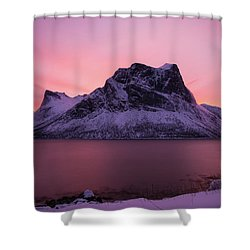 Halo In Pink Shower Curtain