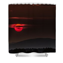 Haloed Sunset Shower Curtain