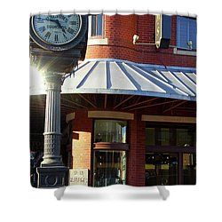 Haltoms Diamonds Clock Shower Curtain