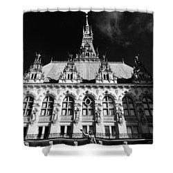 Hamburg Rathaus Shower Curtain