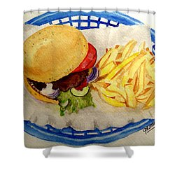 Hamburger Basket #2 Shower Curtain
