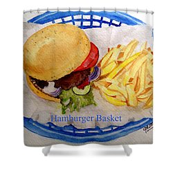 Hamburger Basket Shower Curtain
