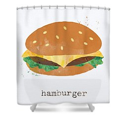 Hamburger Shower Curtain by Linda Woods
