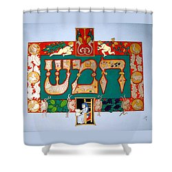Shower Curtain featuring the painting Hamesh by Stephanie Moore