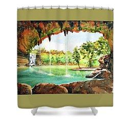 Hamilton Pool Texas Shower Curtain