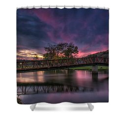 Hamlin Lake Sunset Shower Curtain