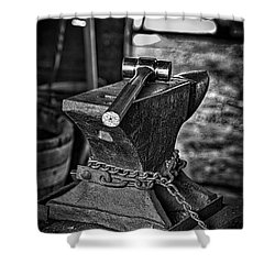 Hammer And Anvil Shower Curtain