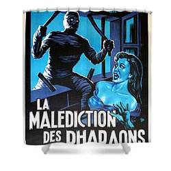 Hammer Movie Poster The Mummy La Malediction Des Pharaons Shower Curtain