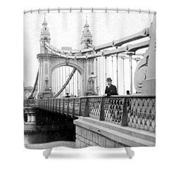 Hammersmith Bridge In London - England - C 1896 Shower Curtain by International  Images