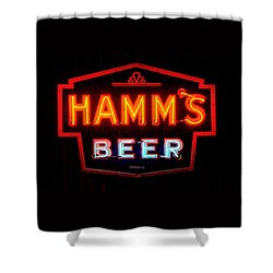 Hamm's Beer Shower Curtain by Susan  McMenamin