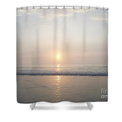 Shower Curtain featuring the photograph Hampton Beach Sunrise by Eunice Miller