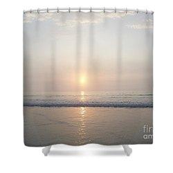 Hampton Beach Sunrise Shower Curtain by Eunice Miller