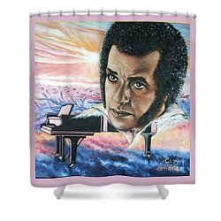 Blaa Kattproduksjoner       Hampton Hawes -jazz Pianist Shower Curtain