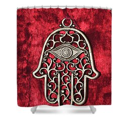 Hamsa  Shower Curtain by Shay Levy
