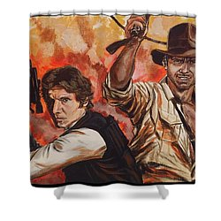 Han Solo And Indiana Jones Shower Curtain