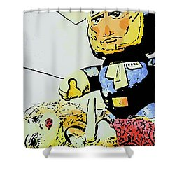 Han Solo Saves The Girl Shower Curtain