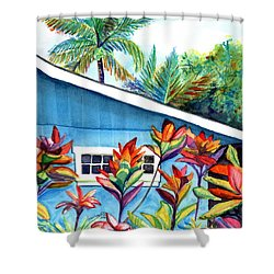 Hanalei Cottage Shower Curtain by Marionette Taboniar