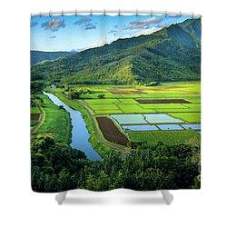 Hanalei Valley Shower Curtain by Inge Johnsson